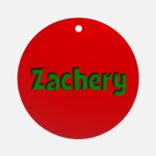 Zachery Red and Green Ornament (Round)