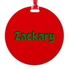 Zackary Red and Green Ornament