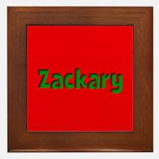 Zackary Red and Green Framed Tile