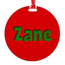 Zane Red and Green Ornament