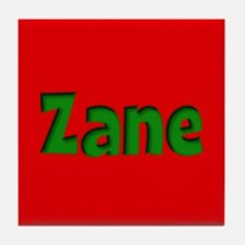 Zane Red and Green Tile Coaster