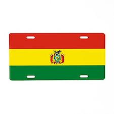 Flag of Bolivia Aluminum License Plate