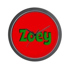 Zoey Red and Green Wall Clock