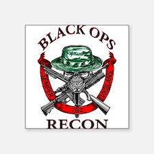 "blackops logo Square Sticker 3"" x 3"""
