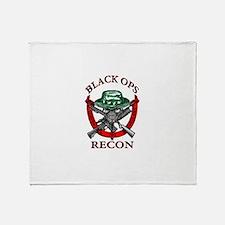 blackops logo Throw Blanket