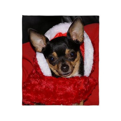 Chihuahua Holiday Throw Blanket