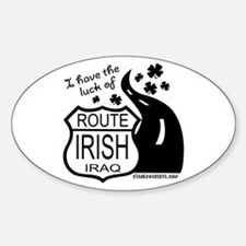 Route Irish 2 Oval Decal