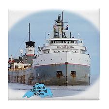 Cuyahoga arrives Duluth Tile Coaster