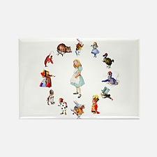 All Around Alice In Wonderland Rectangle Magnet