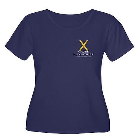 Cross Industries Women's Plus Size Scoop Neck Dark