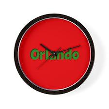 Orlando Red and Green Wall Clock