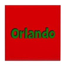 Orlando Red and Green Tile Coaster