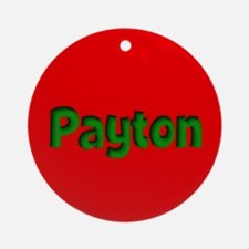 Payton Red and Green Ornament (Round)