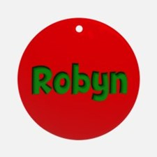 Robyn Red and Green Ornament (Round)