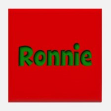 Ronnie Red and Green Tile Coaster