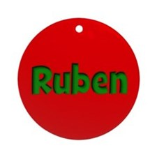 Ruben Red and Green Ornament (Round)