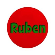 """Ruben Red and Green 3.5"""" Button"""