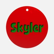 Skyler Red and Green Ornament (Round)