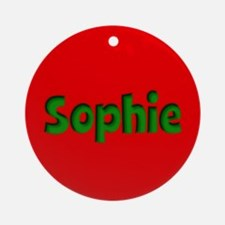 Sophie Red and Green Ornament (Round)