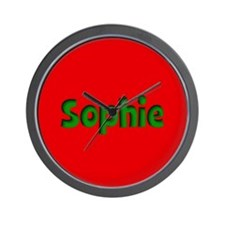 Sophie Red and Green Wall Clock