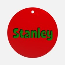 Stanley Red and Green Ornament (Round)