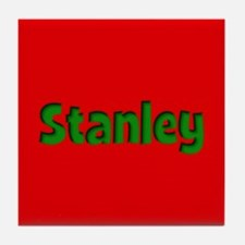 Stanley Red and Green Tile Coaster
