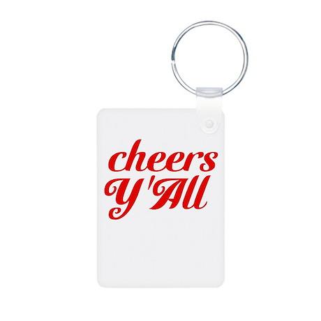 Cheers YAll Aluminum Photo Keychain
