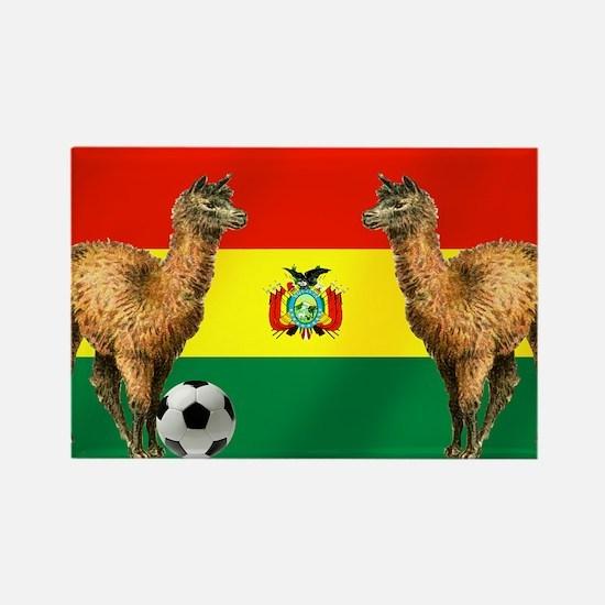 Bolivian Soccer Flag Rectangle Magnet