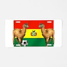 Bolivian Soccer Flag Aluminum License Plate