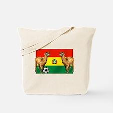 Bolivian Soccer Flag Tote Bag