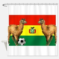 Bolivian Soccer Flag Shower Curtain
