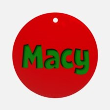 Macy Red and Green Ornament (Round)
