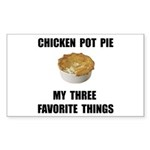 Chicken Pot Pie Sticker (Rectangle 50 pk)