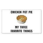 Chicken Pot Pie Sticker (Rectangle 10 pk)