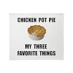 Chicken Pot Pie Throw Blanket