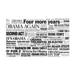 Obama Win 2012 Headline Collage 35x21 Wall Decal