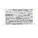 Obama Win 2012 Headline Collage Banner