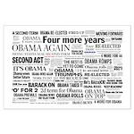 Obama Win 2012 Headline Collage Large Poster