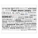 Obama Win 2012 Headline Collage Small Poster