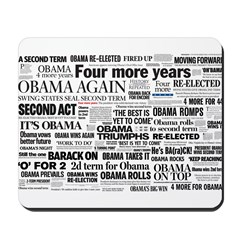 Obama Win 2012 Headline Collage Mousepad