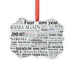Obama Win 2012 Headline Collage Picture Ornament