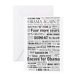 Obama Win 2012 Headline Collage Greeting Card