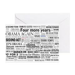 Obama Win 2012 Headline Collage Greeting Cards (Pk
