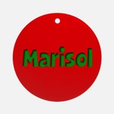 Marisol Red and Green Ornament (Round)