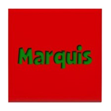 Marquis Red and Green Tile Coaster