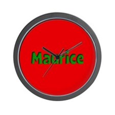 Maurice Red and Green Wall Clock