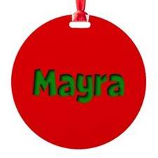 Mayra Red and Green Ornament