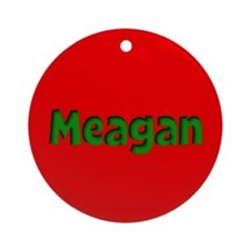 Meagan Red and Green Ornament (Round)