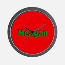 Meagan Red and Green Wall Clock