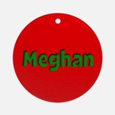 Meghan Red and Green Ornament (Round)